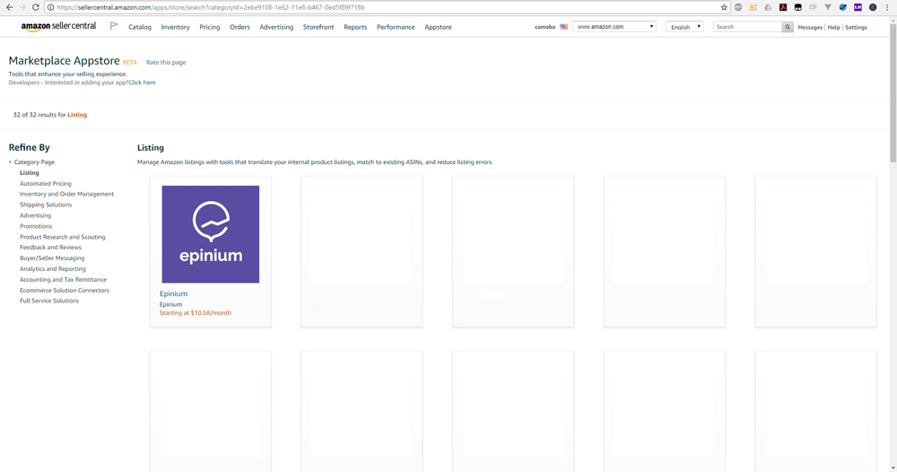 Epinium Available on Amazon Marketplace Appstore