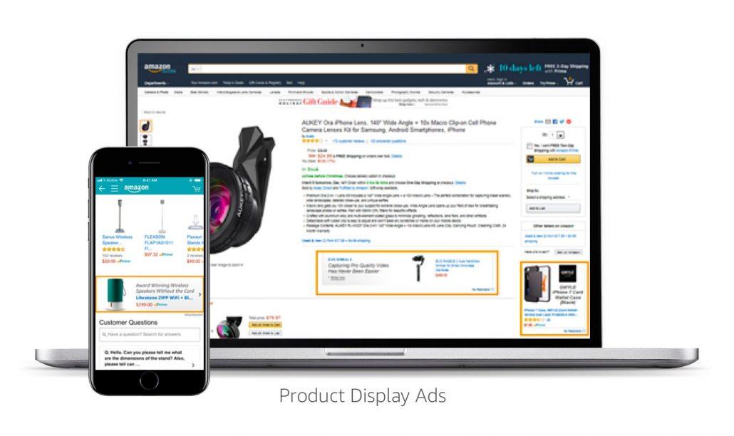 Anuncios de display en Amazon