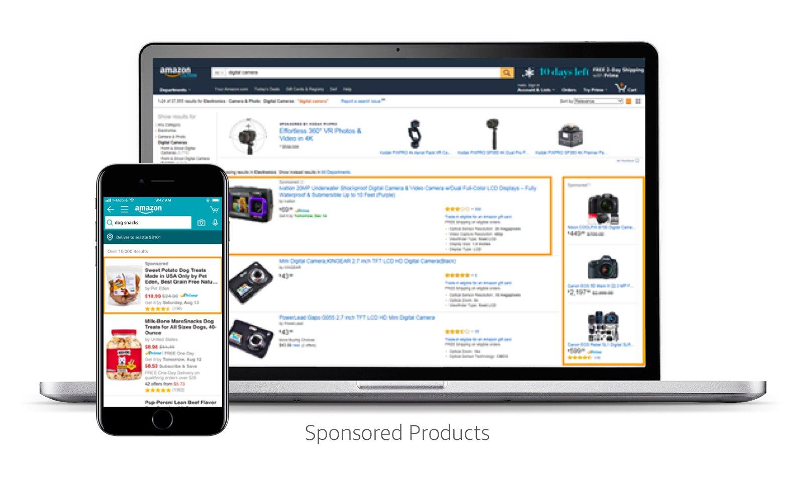 Anuncios de productos patrocinados en Amazon