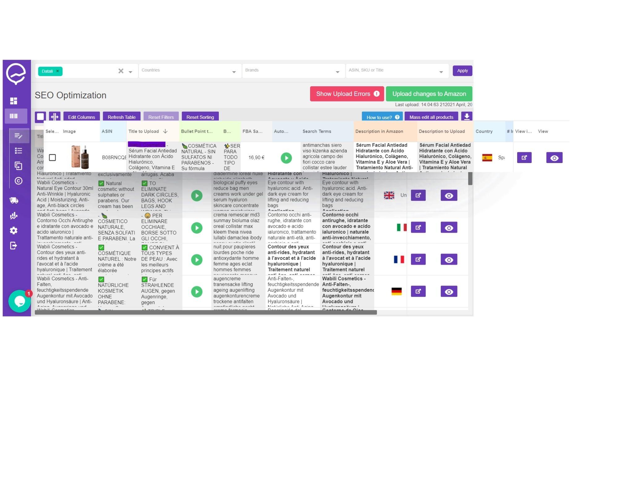 como optimizar los listados de productos